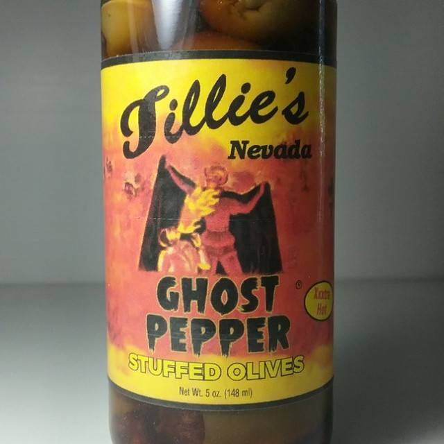 Ghost Pepper Stuffed Olives
