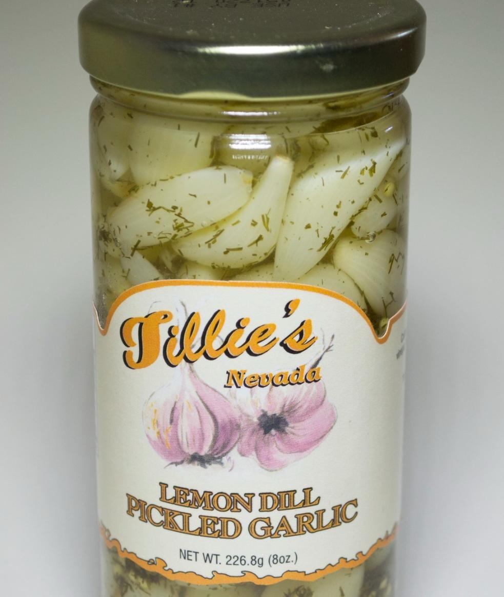 Lemon Dill Pickled Garlic