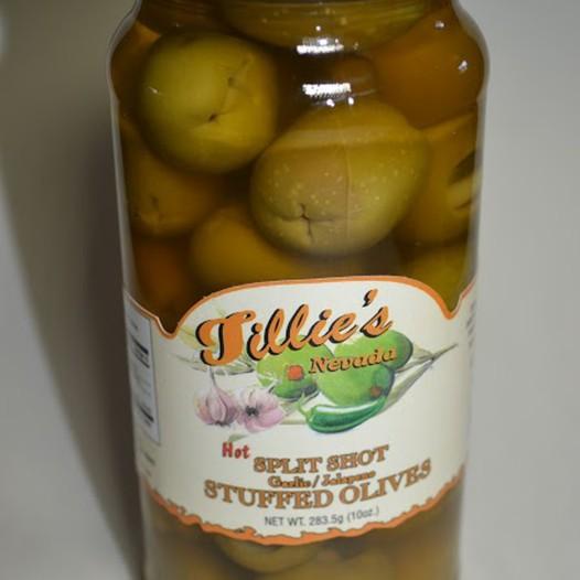 Split Shot Double Stuffed Olives